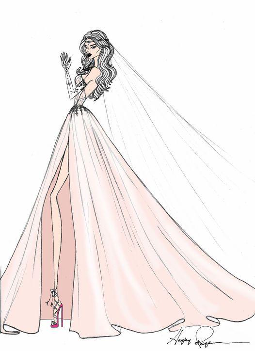 Fashion designer wedding dress sketches vera