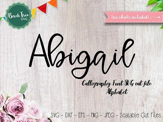 Download Alphabet SVG Font Cutfile, Modern Calligraphy SVG ...