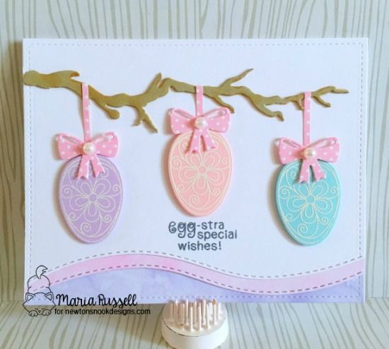 Egg-stra Special Wishes Card by Maria Russell Easter Eggs