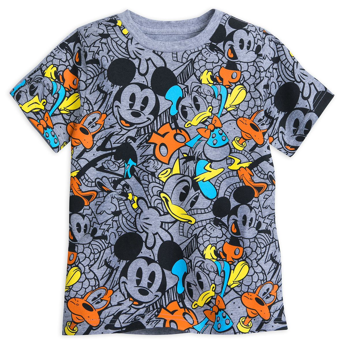 Disney Classic Mickey Mouse and Friends Nightie T Shirt Heather Grey