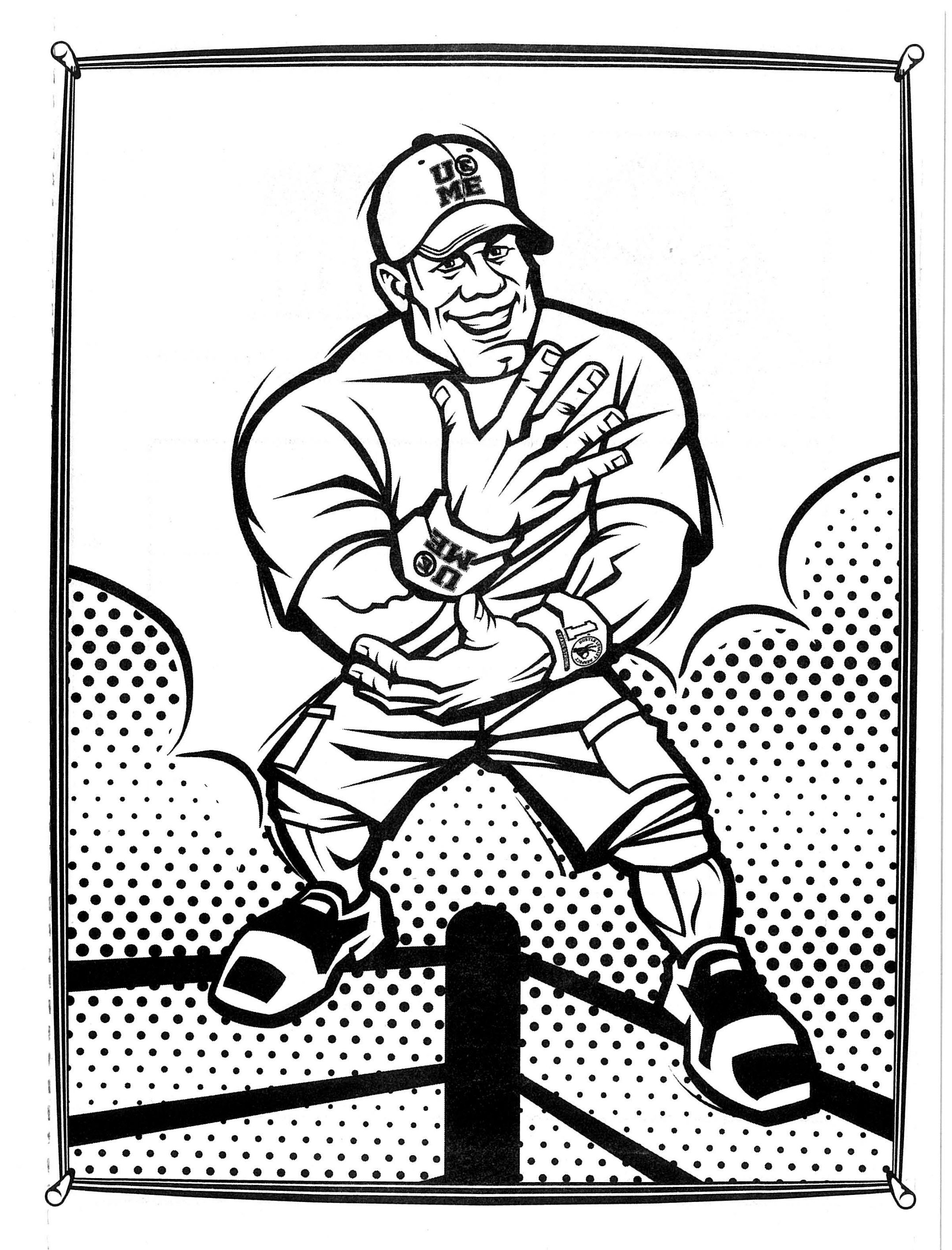 Wwe super coloring activity book john cena for Wwe raw coloring pages