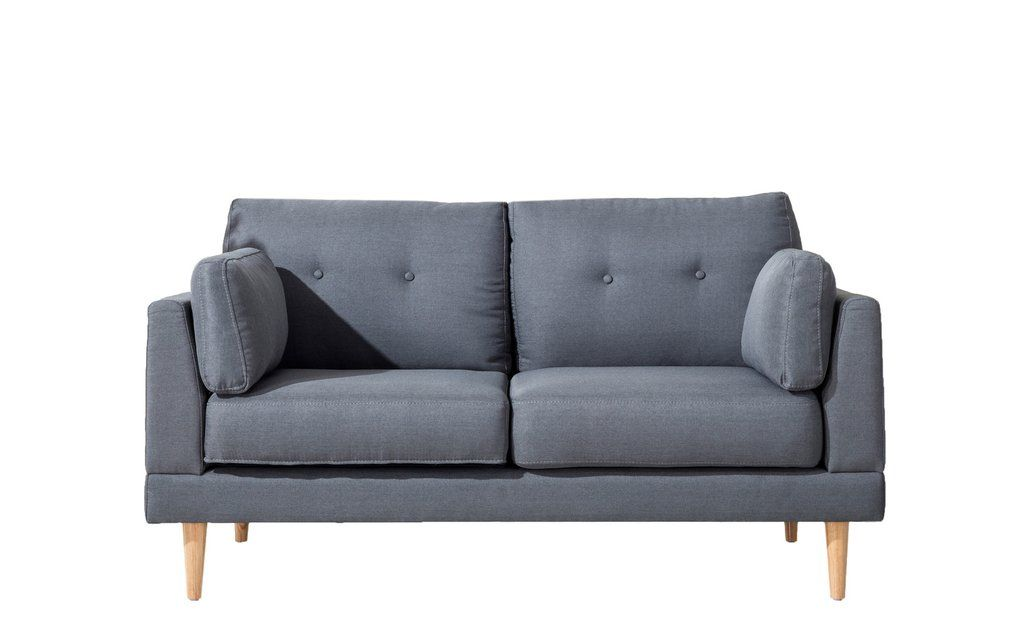 Admirable Ian Mid Century Modern Loveseat In Dark Grey Condo Life Spiritservingveterans Wood Chair Design Ideas Spiritservingveteransorg