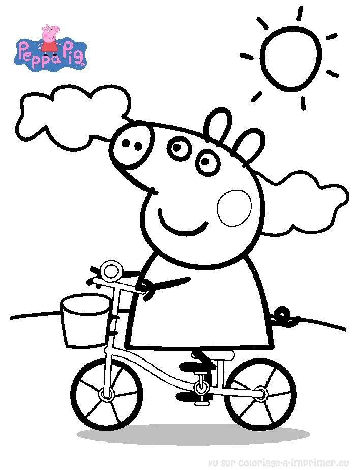 Souvent Coloriage Peppa Pig à colorier - Dessin à imprimer | Coloriages  WU29