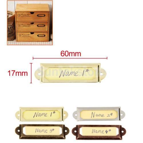 50x Drawer Home Cabinet Frame Label Tag Pull Handle File Name Card Holder Name Card Holder Diy Holder Frame Card Holder