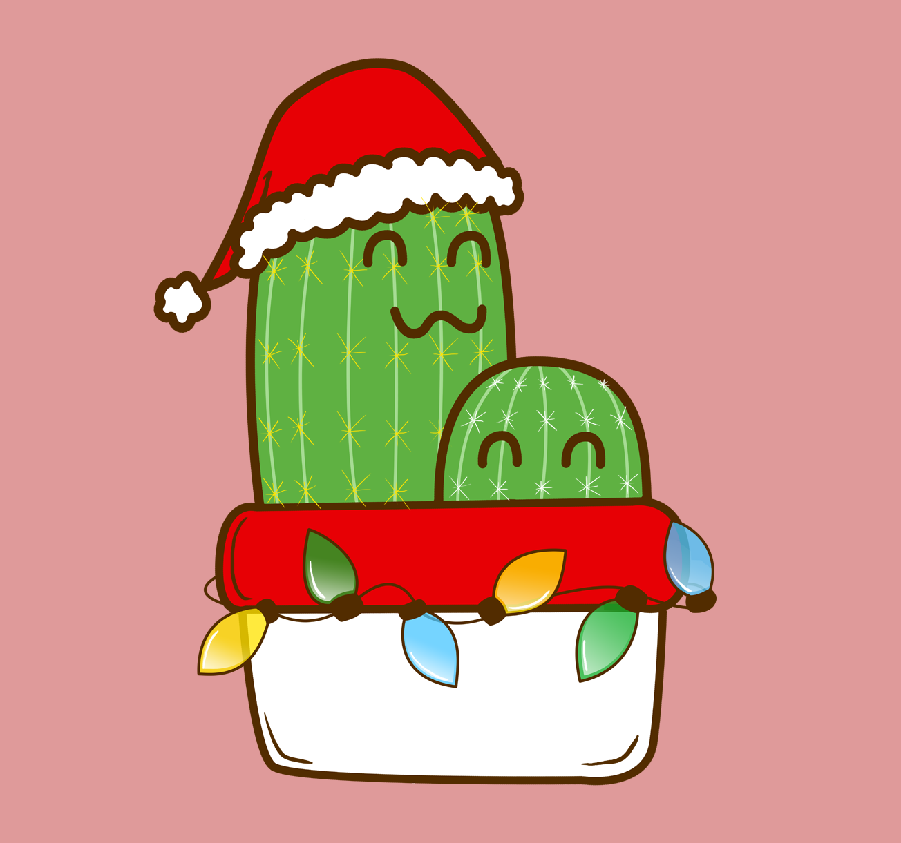 Cute Holiday Christmas Cactus Sleeveless Top By Artrus Christmas Tree Wallpaper Christmas Cactus Homemade Christmas Crafts