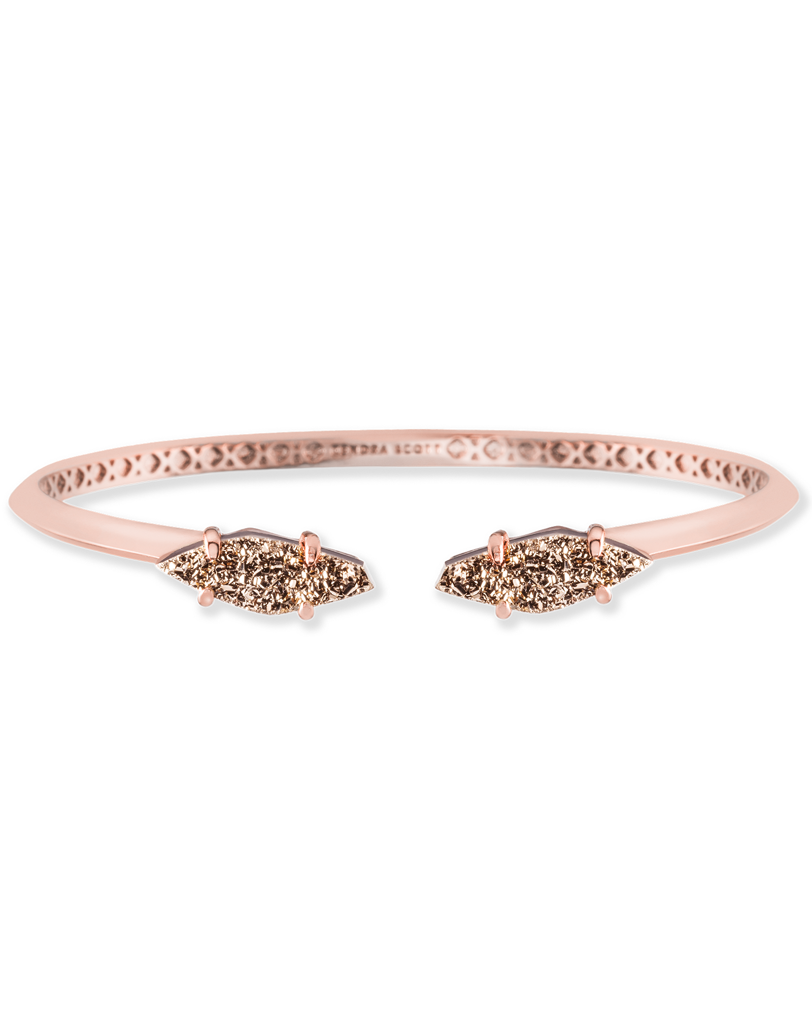 Rose Gold Cuff Bracelets In Pink Drusy Stones From Kendra Scott Perfect For Stacking