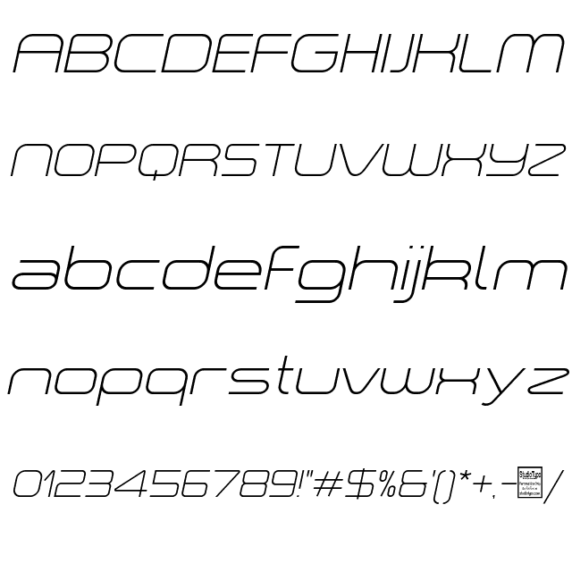 """a """"space light Italic Font"""