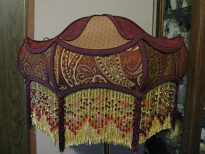 Victorian french x large table lamp shade kahn beads fringe aloadofball Choice Image