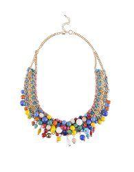Collar cadena abalorios cristal - Suite Blanco