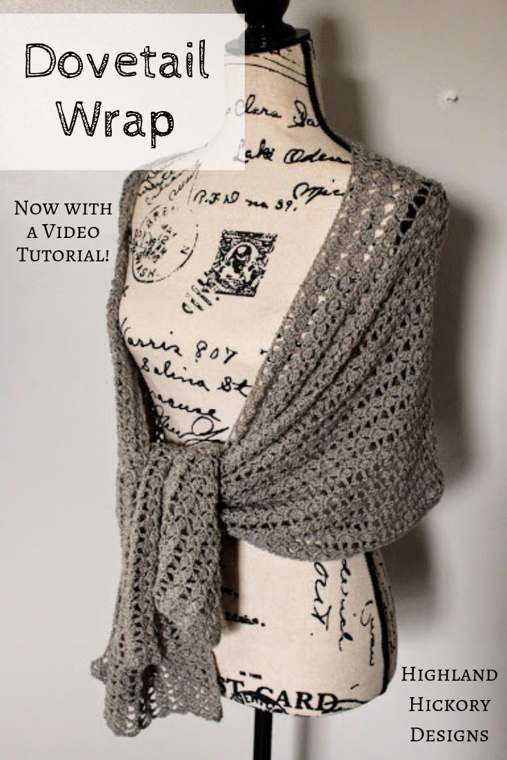 Dovetail Wrap - Highland Hickory Designs - Free Crochet Pattern #shawlcrochetpattern