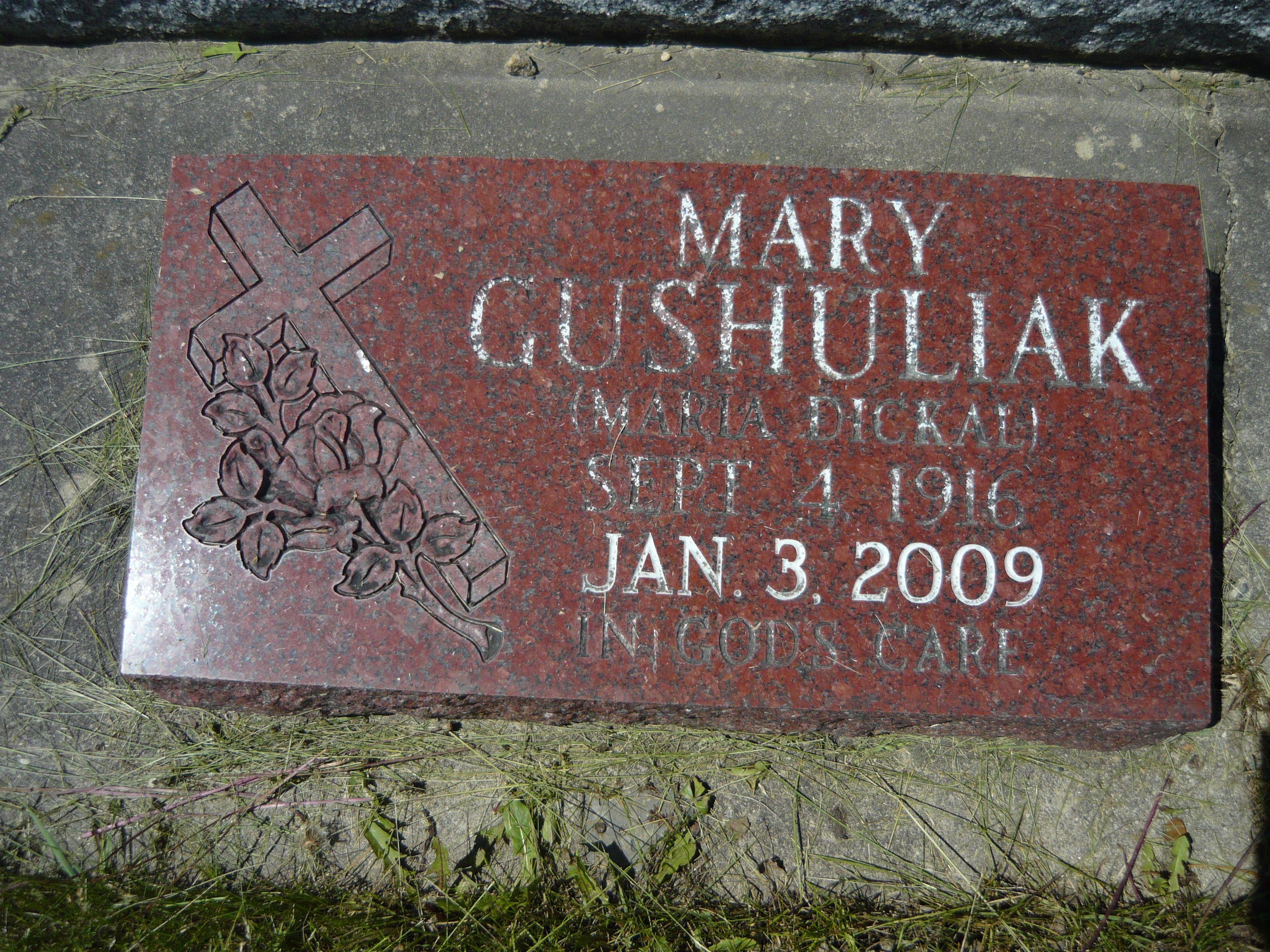 Mary I Dickal I Gushuliak Transcona Mb Mary I Mary Grave