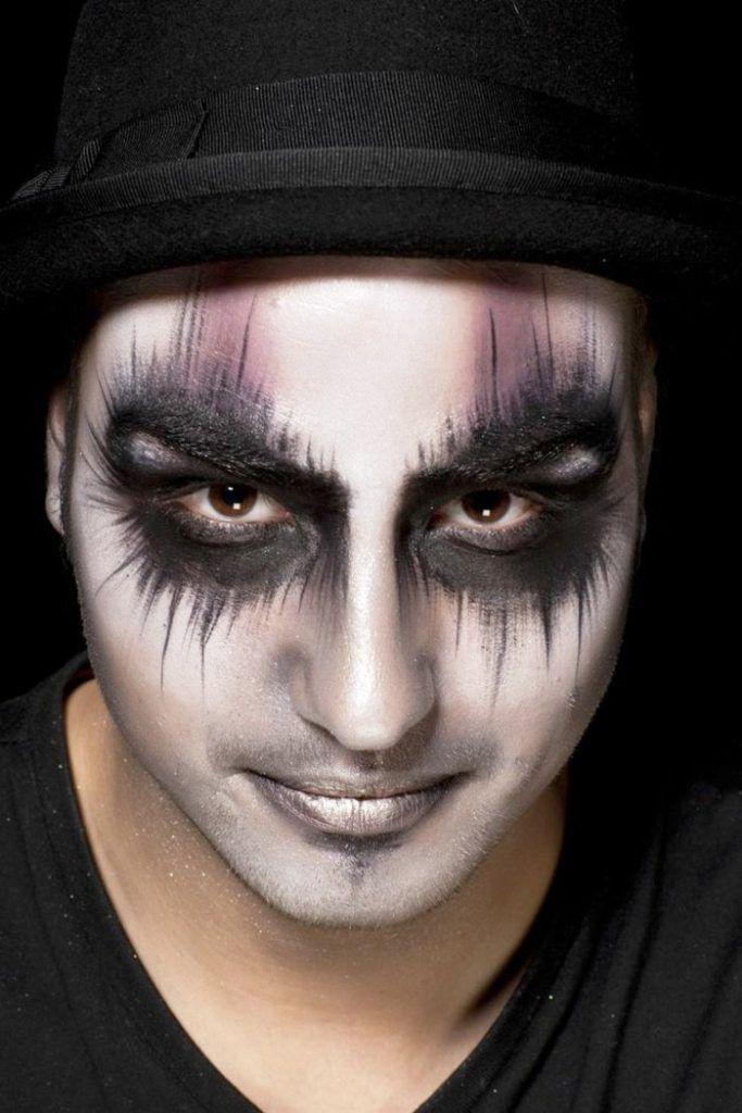 30 halloween makeup ideas for men makeup man halloween makeup and makeup. Black Bedroom Furniture Sets. Home Design Ideas