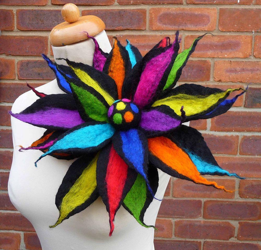 felted wool flower pin,brooch,corsage,handmade,lagenlook, by Felted Art To Wear  | eBay #scarvesamp;shawls