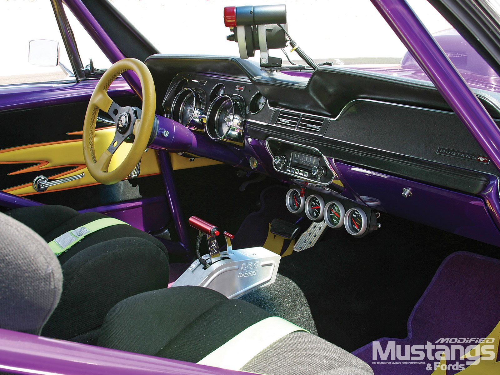 A Quick Peek At What The Inside Of A Vikings Fan Car Should Look Like Ford Mustang Coupe Ford Racing Vikings Football