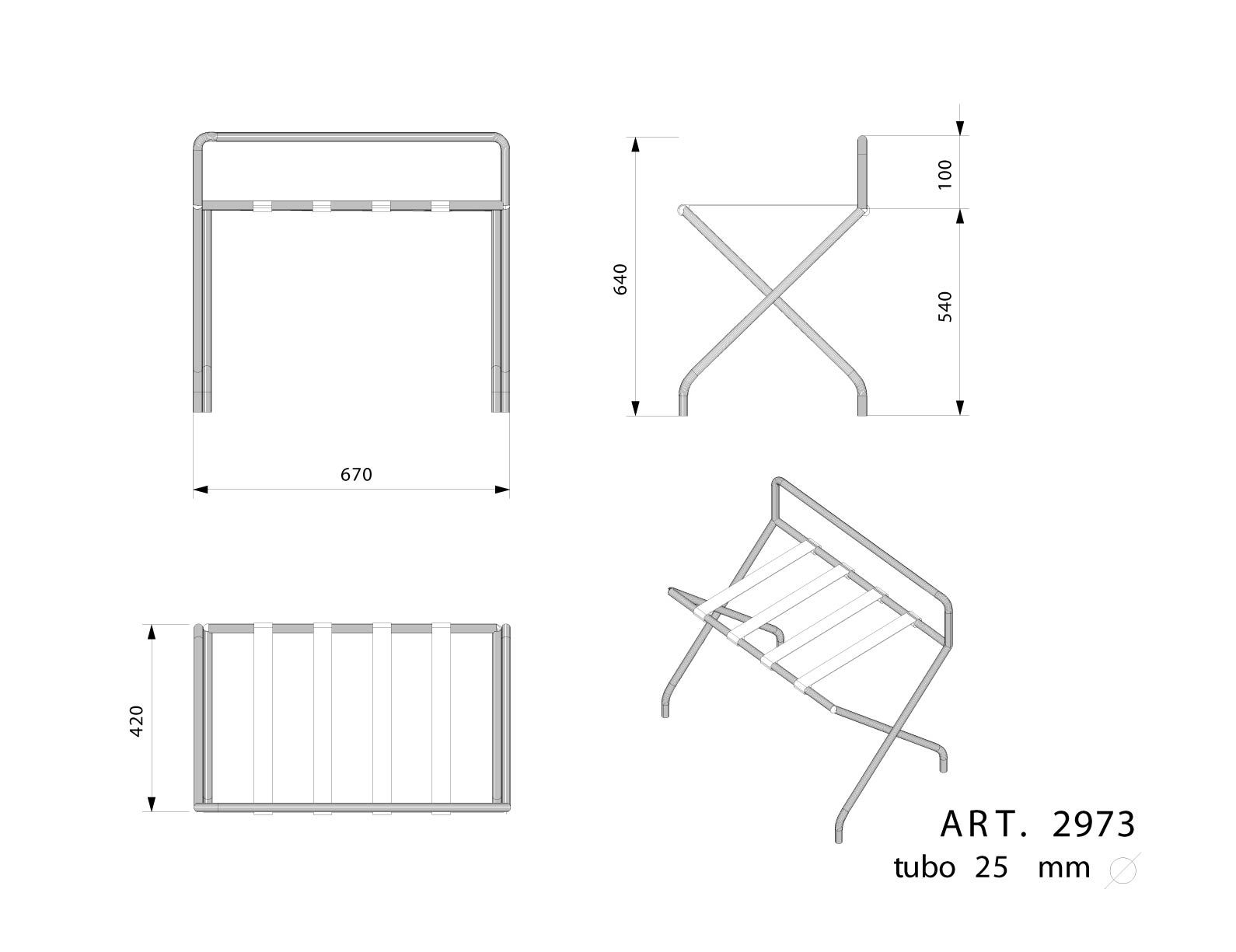 Luggage Rack Dimensions