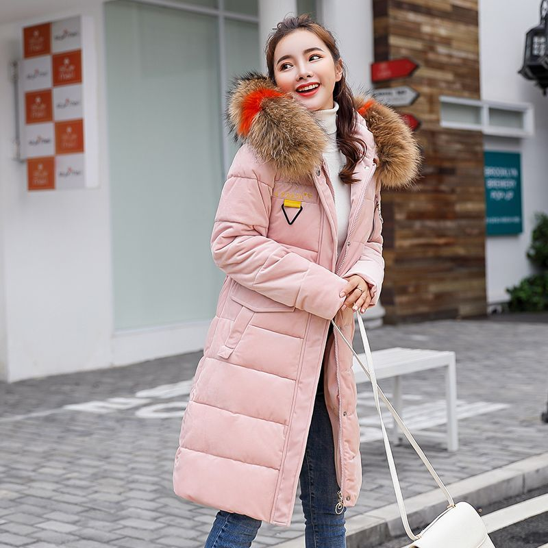 KUYOMENS Autumn Jacket Parka Women Winter Coat Women s Warm Outwear Thin  Cotton-Padded Long Jackets High Quality Plus Size  women swintercoatsparkas e15d702c84f0