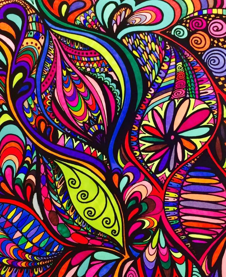 ColorIt Calming Doodles Volume 1 Colorist: Jan Long #adultcoloring #coloringforadults #doodle #coloringpages