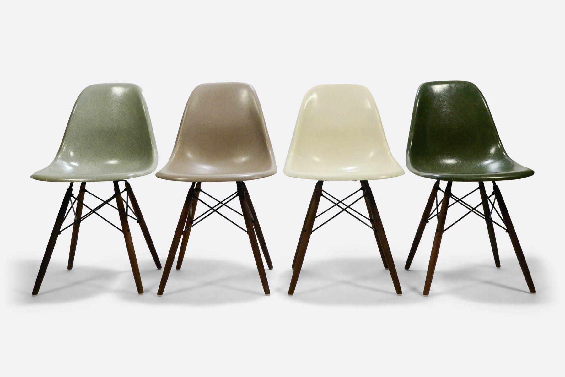 Multiset Of Rare Colors Eames Dsw Dsx Dsr Herman Miller Vitra Design Eames Fiberglass Chair Vintage Eames Eames Dsw Chair