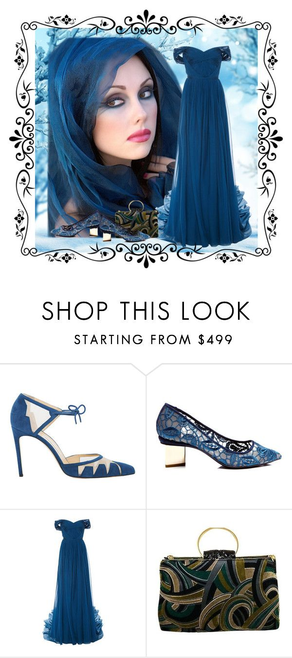 """Untitled #3473"" by lovetodrinktea ❤ liked on Polyvore featuring Nicholas Kirkwood, Marchesa and Versace"