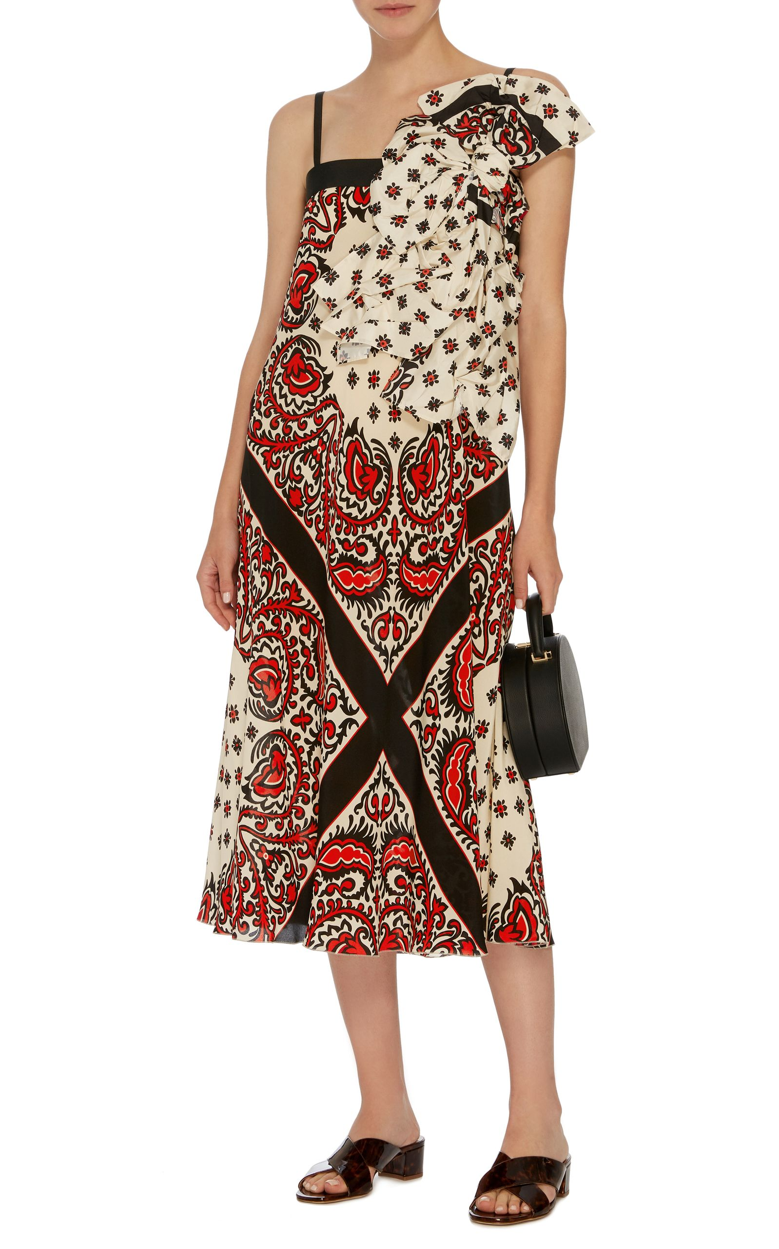 Bandana printed long dress Red Valentino Best Store To Get Sale Online bSJtz7yV
