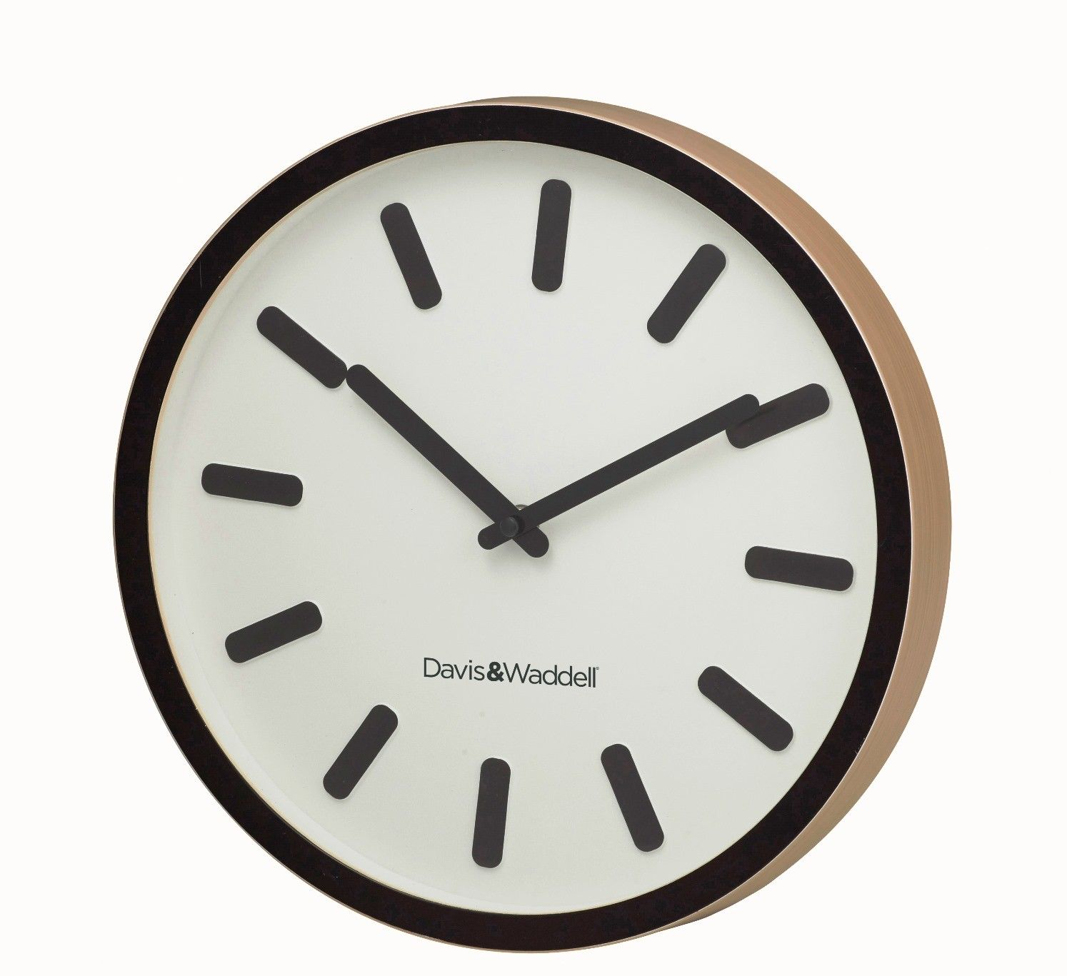 Davis And Waddell Carter Wall Clock Round Plastic Face Timber