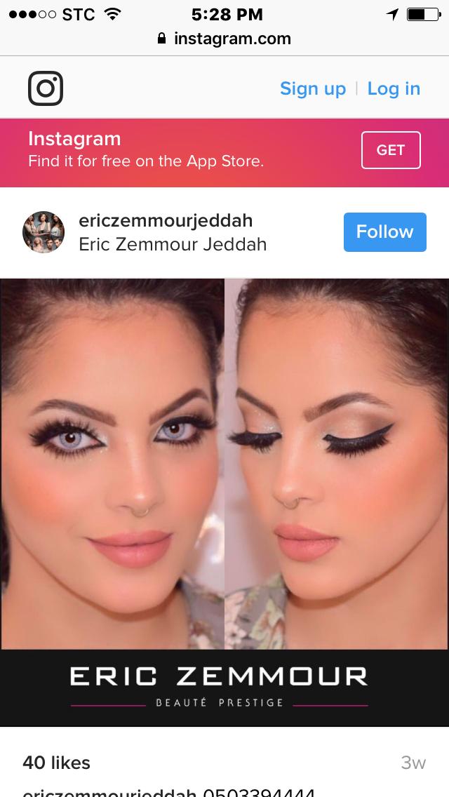 @ericzemmourjeddah Saudi model tara.bella_   Eye makeup ...