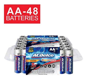 Acdelco Aa Batteries Alkaline Battery 48 Count Acdelco Alkaline Battery Battery