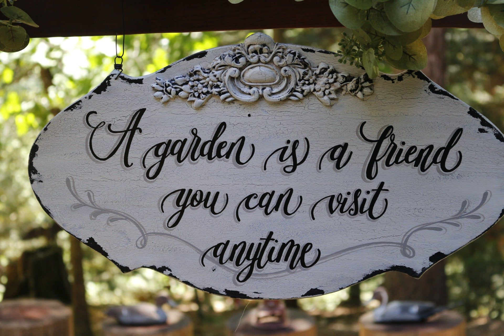 Garden Sign Personalized Garden Sign Flower Garden Sign Rustic Etsy Garden Signs Vintage Garden Decor Flower Garden
