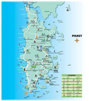 Phuket Tourist Map Phuket Thailand Mappery Tur