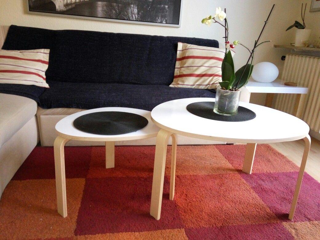Ikea Couchtisch Mit Weisser Folie Beklebt