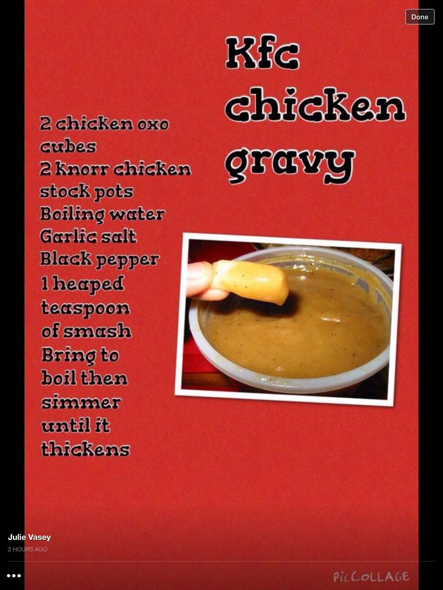 Syn free KFC gravy … | Pinteres…