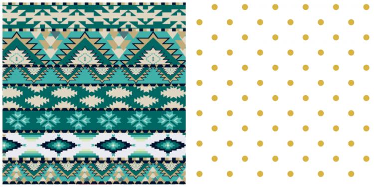 Mixing Patterns: Aztec & Polka Dots
