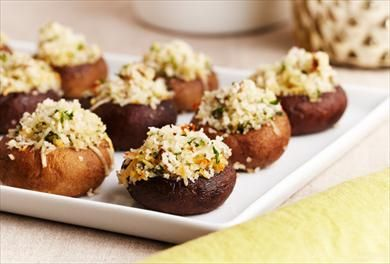 Impress your guests with our versatile, personalized stuffed mushroom recipe. For more easy takes on classic party food, visit P&G everyday today!