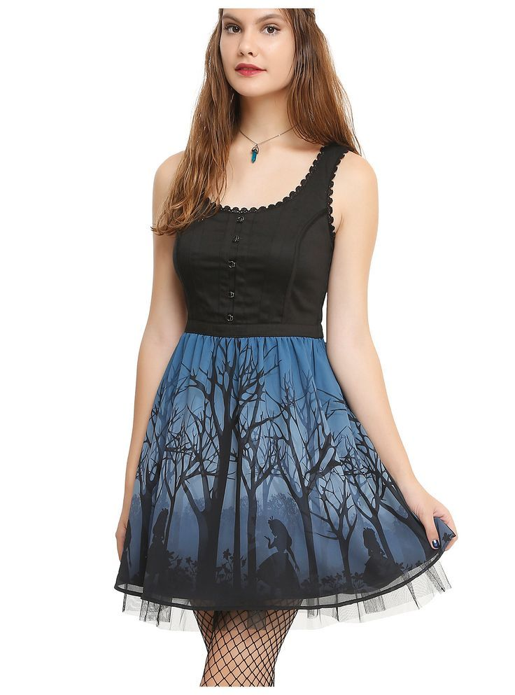 Disney Alice In Wonderland Silhouette Corset Dress | Hot Topic