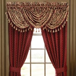 Hyatt WINDOW TREATMENT Royal Velvet complete set 4 Panel /& 5 valance x wide Blue