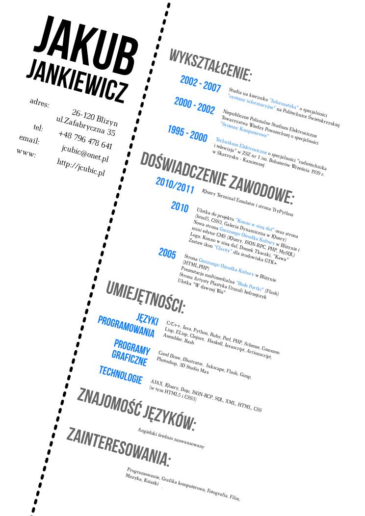 Resume Designer My Cv Designjcubicdeviantart On Deviantart  Resume