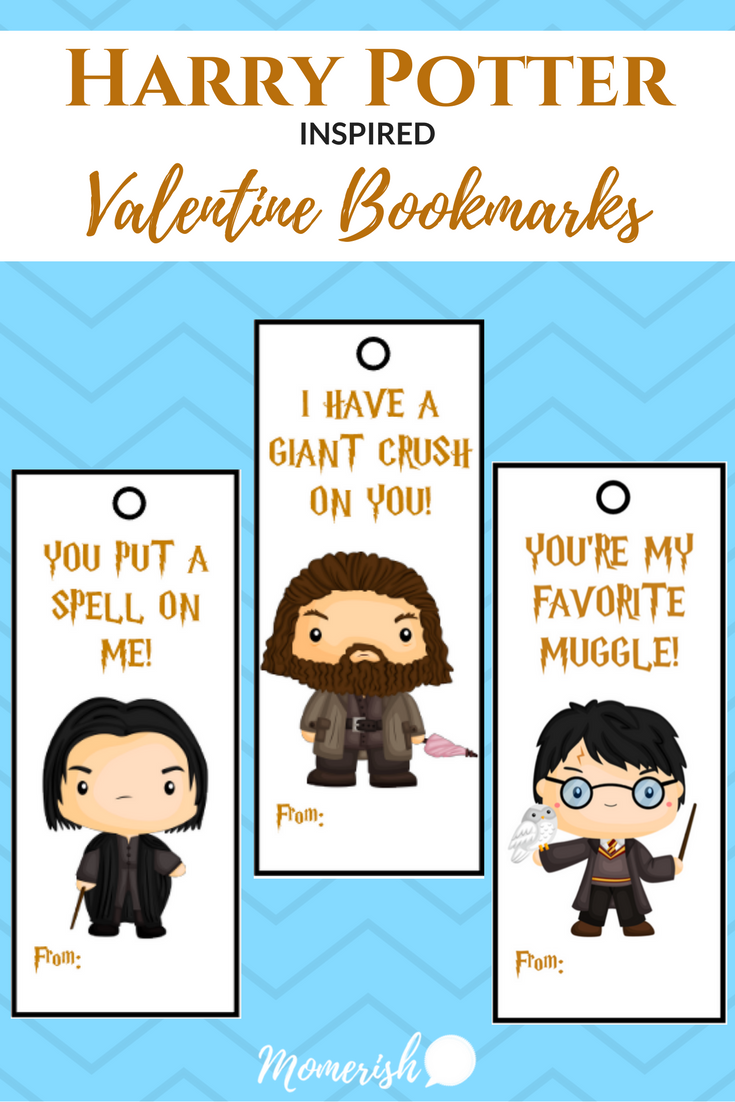 Valentine bookmark to color - Harry Potter Inspired Valentine Bookmarks These Printable Bookmarks Are Perfect For Any Harry Potter Fan