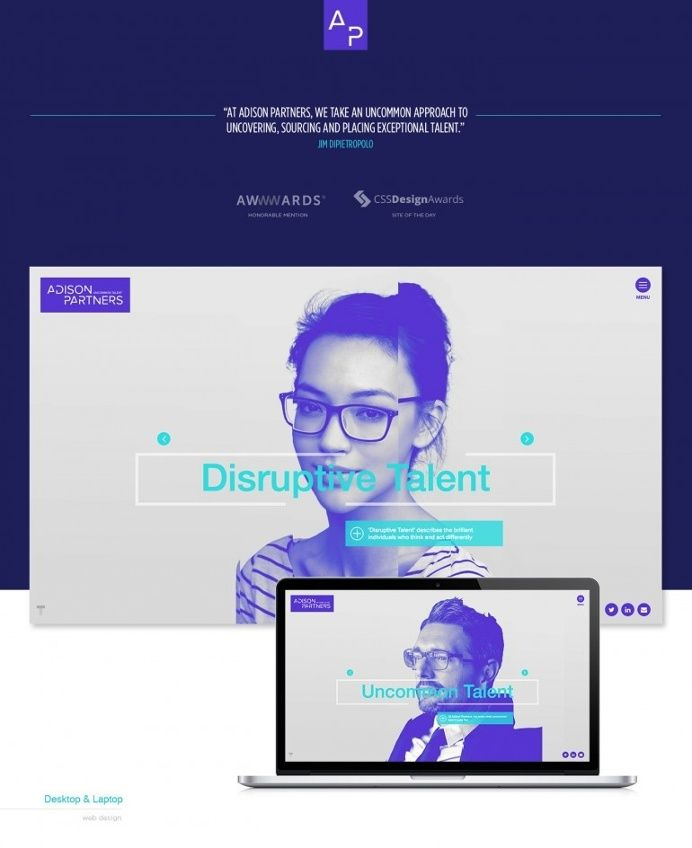 Adison Partners A Branding Web Design Web Design Web Development Design Business Website Design