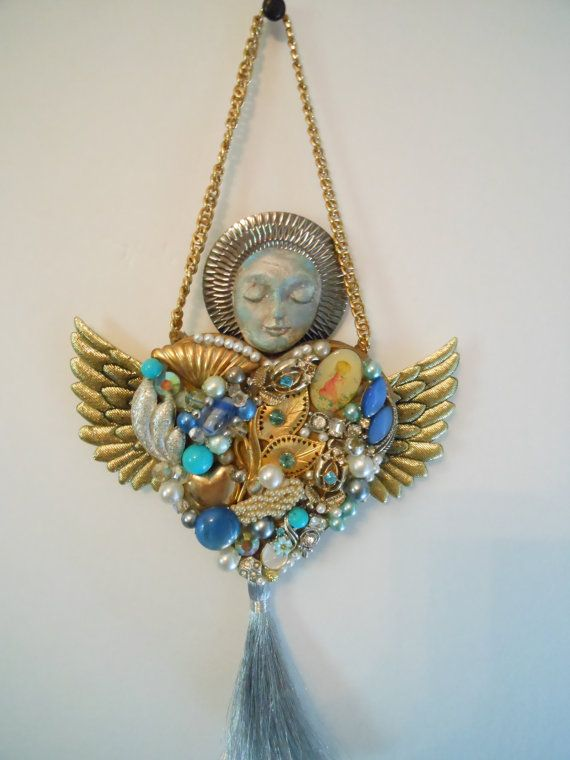 encrusted jewelry art encrusted art costume jewelry by artysangels by Susie Kunzelman