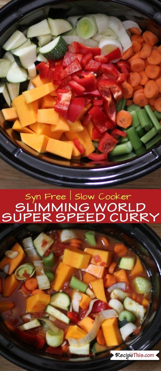 Slimming World Super Speed Curry In The Slow Cooker