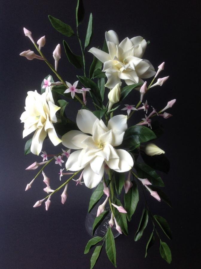 Gardenia Arrangement Sugar Flowers Tutorial Clay Flowers Gardenia