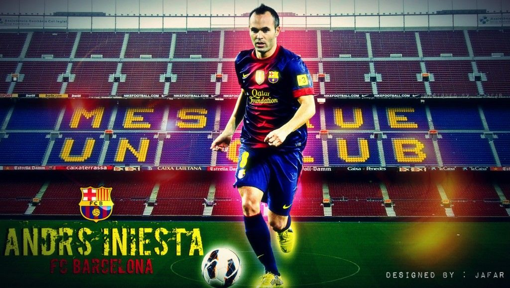 Andrs iniesta fc barcelona 2012 2013 best hd wallpapers andres iniesta power of control hd voltagebd Choice Image