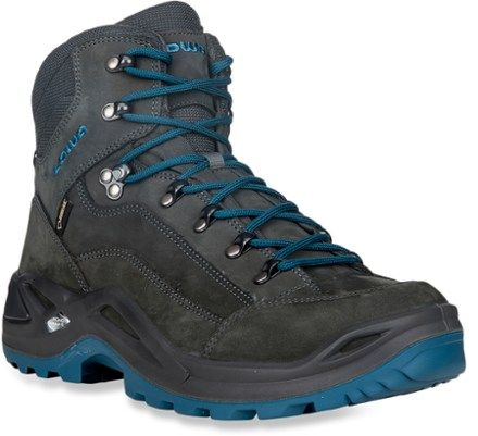 Lowa Renegade GTX Mid Hiking Boot - Anthracite/Denim - Mens - 11.5