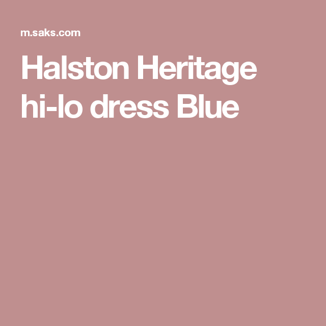 Halston Heritage hi-lo dress  Blue