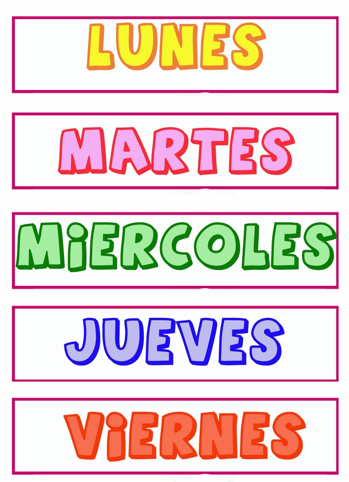 Dias De La Semana Calendario Para Ninos Rutina Diaria De Ninos Libros De Preescolar