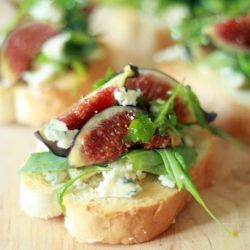 Fig Gorgonzola Brischetti
