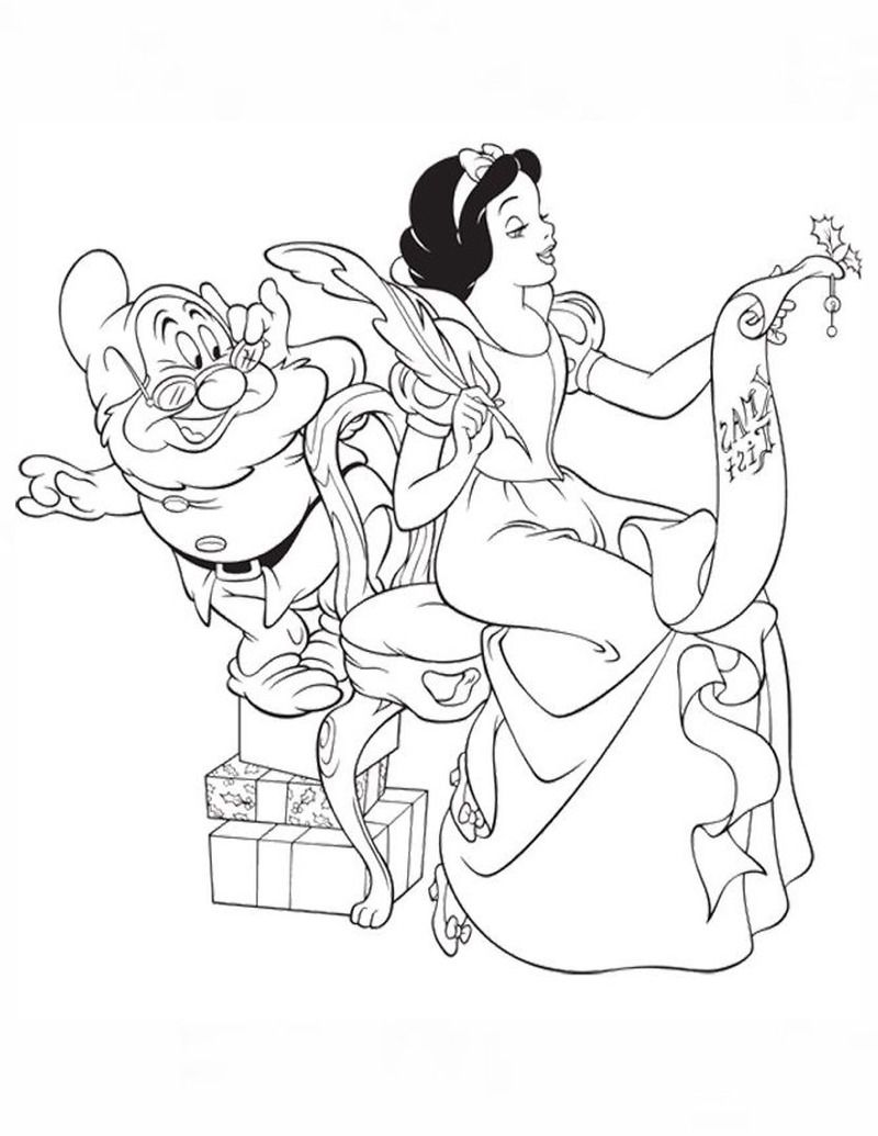 800×1035 in 2020 (With images) Snow white coloring pages