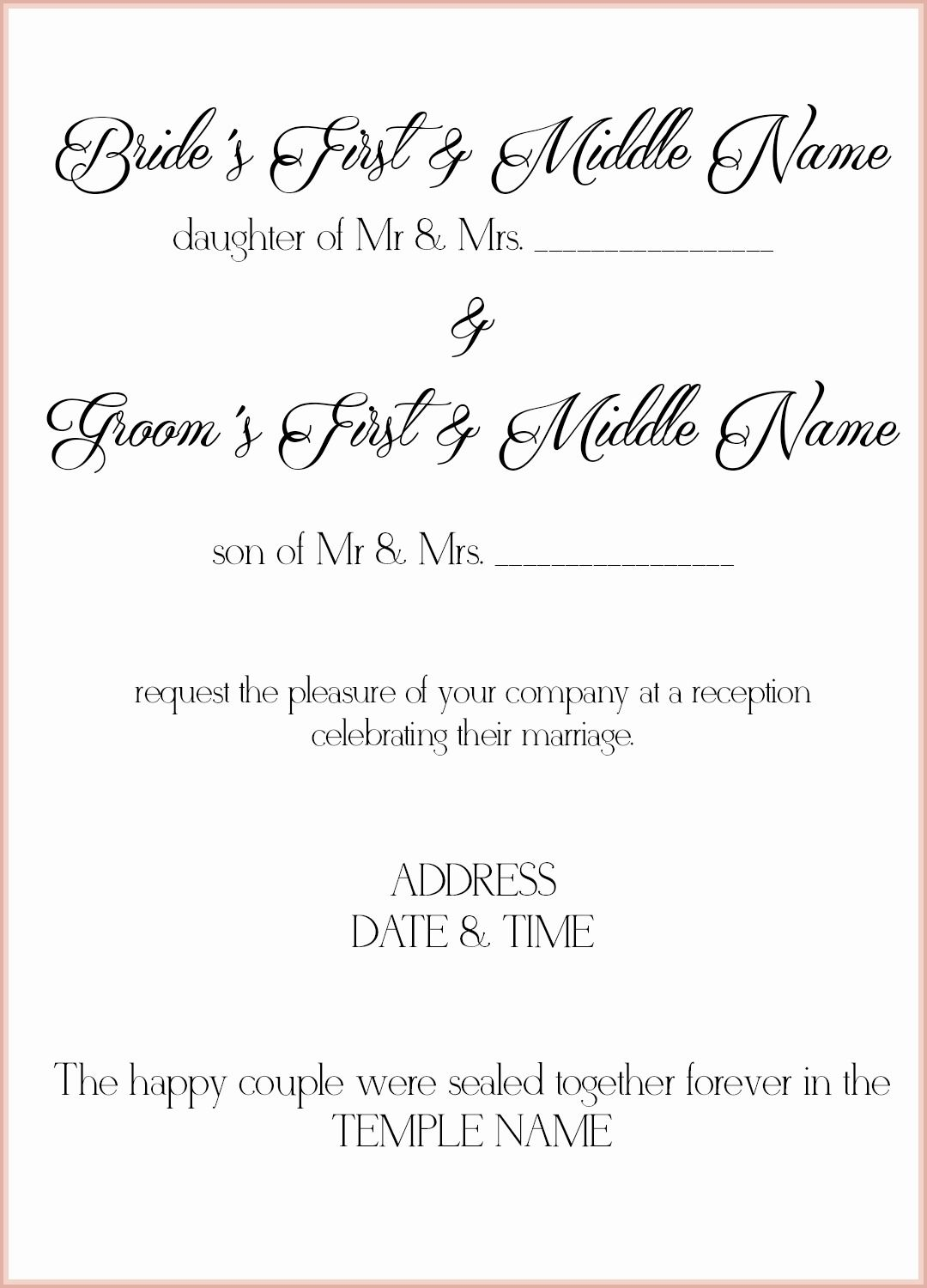 Exquisite Wedding Invitation Wording Samples You Ll Want To Copy Immediately
