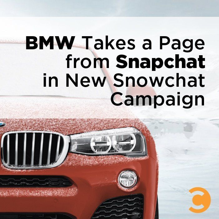 BMW Takes a Page from Snapchat in New Snowchat Campaign