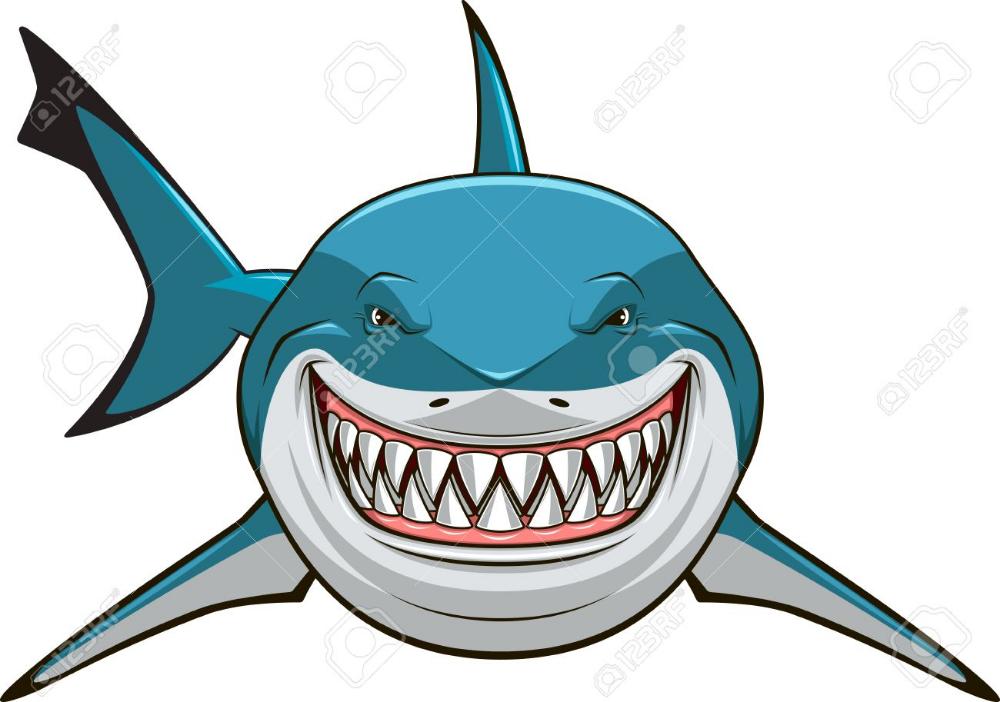 Ilustracion Del Vector Tiburon Blanco Dentudo Tiburon Blanco Dibujo De Tiburon Arte De Tiburon